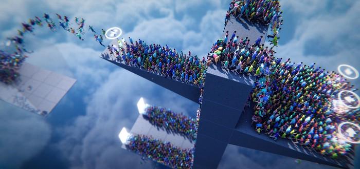 Новый трейлер странной игры Humanity про поведение толпы людей