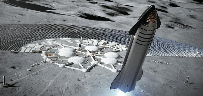 SpaceX планирует орбитальные дозаправки ракет Starship и базу на Луне