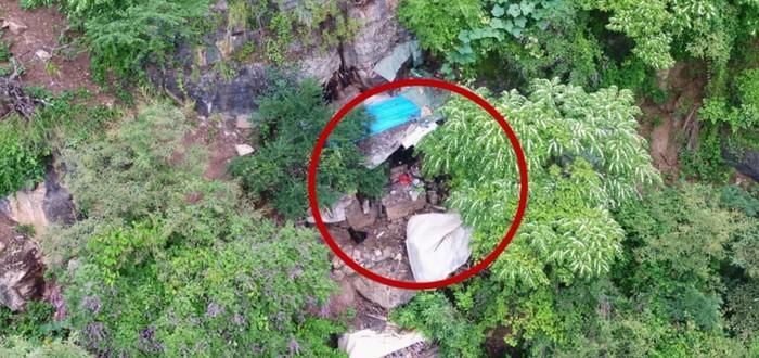 Китайская полиция при помощи дрона нашла преступника, скрывающегося в пещере 17 лет
