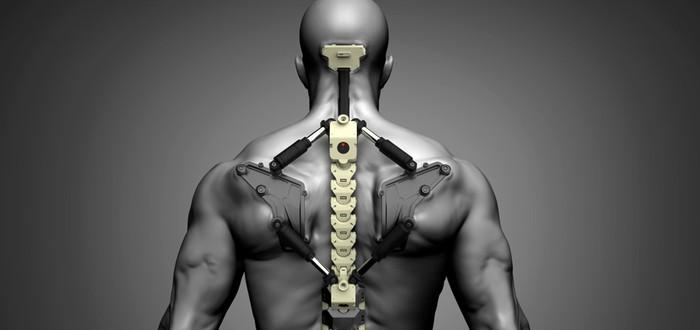 Посмотрите, как парализованный мужчина ходит в экзоскелете силой мысли