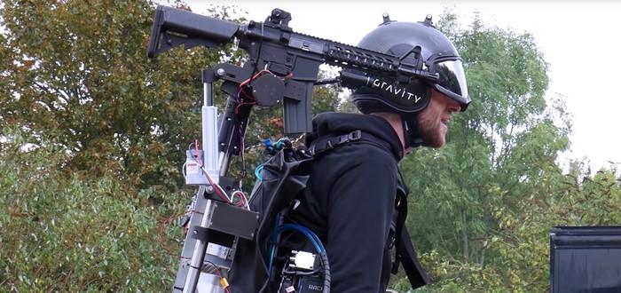 Джетпак Gravity Industries оснастили плечевой винтовкой