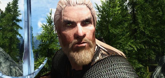 Для Skyrim вышел улучшенный мод с монстрами, знаками и оружием из The Witcher 2