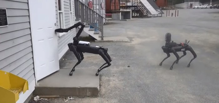 Американская полиция уже испытала робота-пса Boston Dynamics в действии