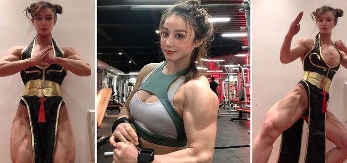 Бодибилдерша представила косплей Чунь Ли — посмотрите на эти мышцы