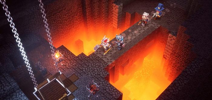 Вариативность игрового процесса в новом геймплее Minecraft Dungeons