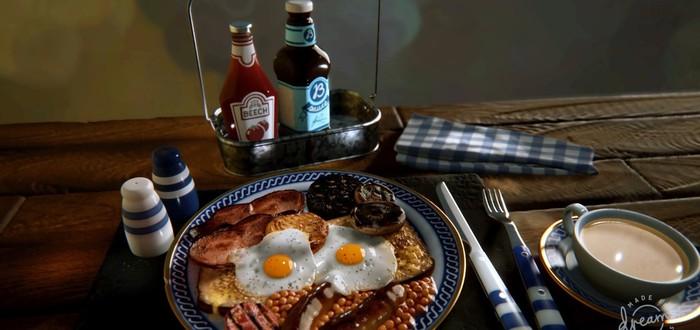 Пользователи создали гиперреалистичные завтраки в Dreams