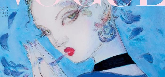 Иллюстратор серии Final Fantasy изобразил новую обложку журнала Vogue