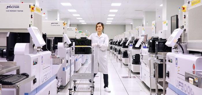 Micron начала тестовое производство памяти DDR5
