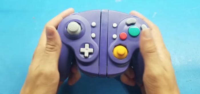 Моддер сделал кастомный контроллер GameCube для Nintendo Switch