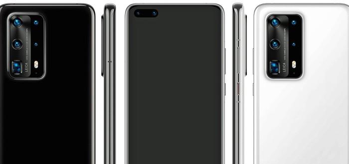 Утечка: Huawei P40 Pro получит пять камер и корпус из керамики