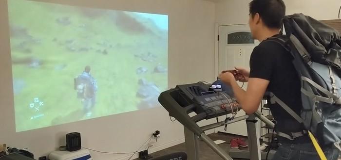 Инженер подключил беговую дорожку к геймпаду, чтобы поиграть в Death Stranding