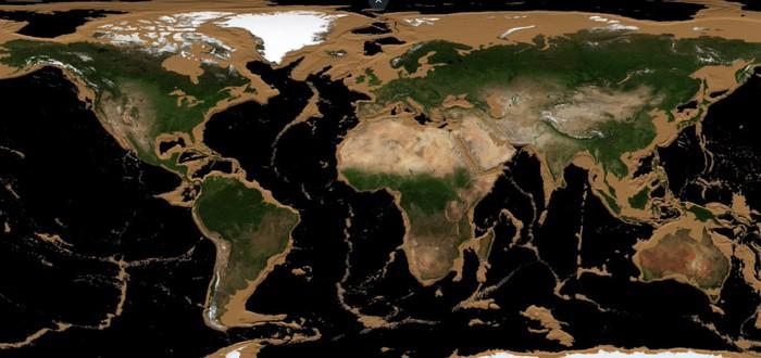 Как будет выглядеть Земля, если все океаны высохнут