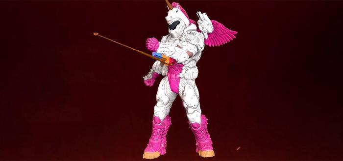 Палач Единорока или Сиреневый пони? Трейлер кастомизации героя Doom Eternal