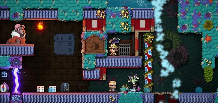 Разнообразный мир и другие персонажи на скриншотах Spelunky 2