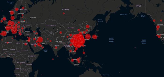 Хакеры используют сайты с картами распространения коронавируса для похищения информации