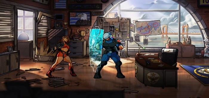 Уничтожение десятков врагов в геймплее Streets of Rage 4