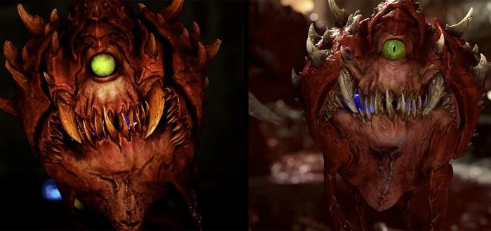 Сравнение DOOM Eternal и DOOM 2016 — демоны, пушки, уровни, освещение и другое