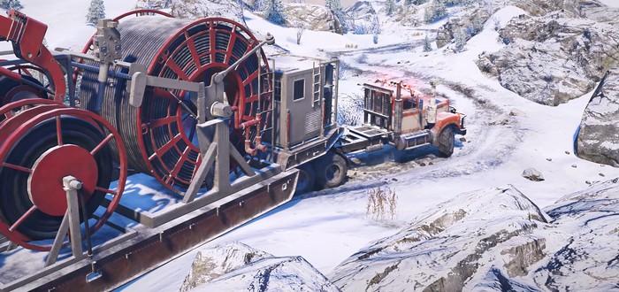 Разведка, экспедиция и улучшение транспорта в трейлере SnowRunner