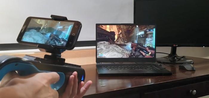 Doom Eternal запустили в паре с контроллером-бластером