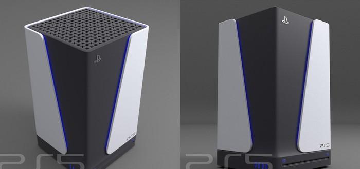 Фанат придумал свой дизайн PS5 в стиле DualSense