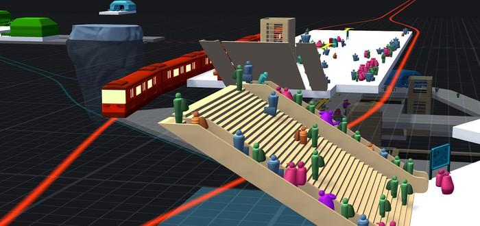 Управление станцией метро и пассажиропотоком в релизном трейлере стратегии STATIONflow