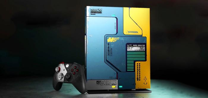 Microsoft официально представила Xbox One X в стиле Cyberpunk 2077