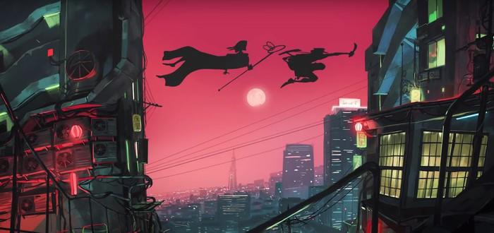 Самурай против демонов в аниме-рекламе велосипедов