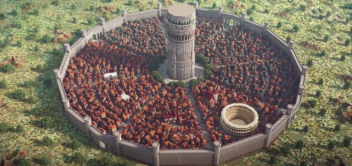 Этот город из аниме был воссоздан в Minecraft командой профессиональных строителей