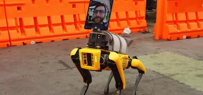Робот Boston Dynamics помогает врачам в работе с больными коронавирусом