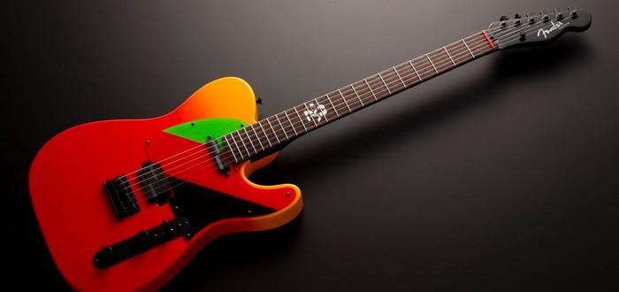 """Fender выпустит специальную электрогитару в стиле аниме """"Евангелион"""""""