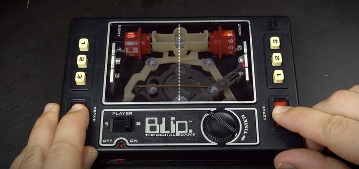 Посмотрите на внутренности механической консоли для игры в клон Pong — это нечто