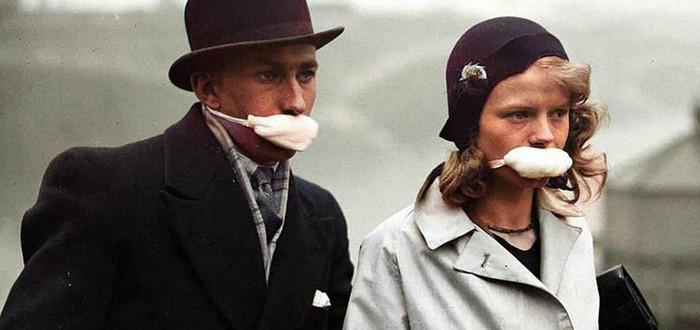 Карантин 100-летней давности — жизнь во время пандемии испанки на раскрашенных фотографиях