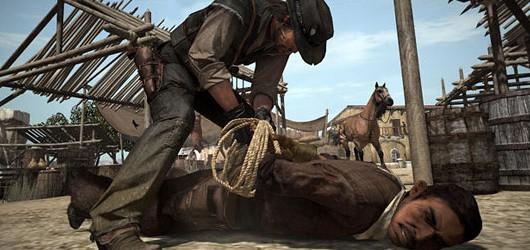 Толпа на путях в Red Dead Redemption