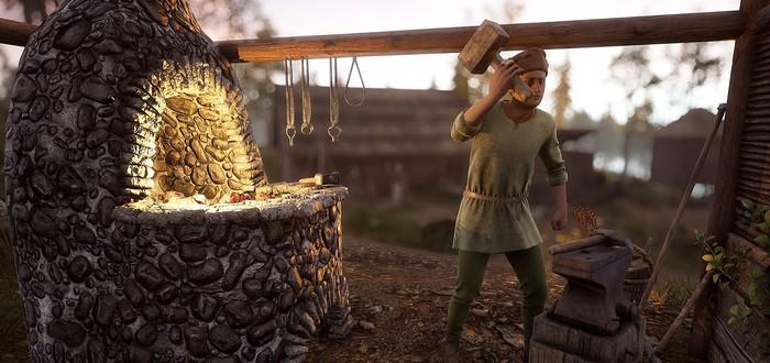 Cтроительство средневековой деревни и добыча ресурсов в новом геймплее сурвайвала Medieval Dynasty