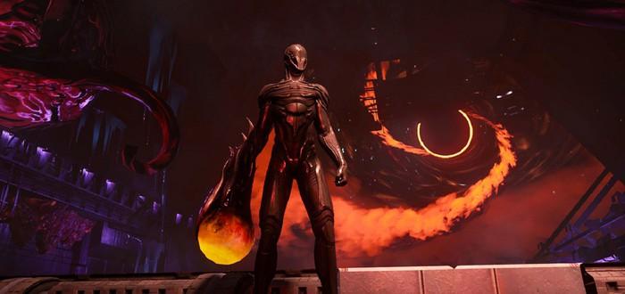 Сражения с врагами и боссом в геймплее мрачной Hellpoint