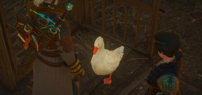 В The Witcher 3 был баг, когда гусь заходил в паб и даже закрывал за собой дверь