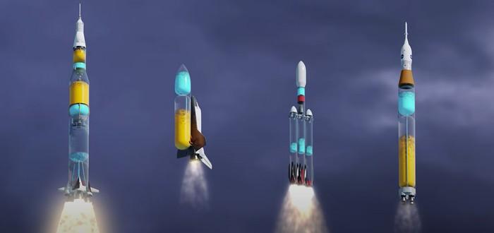 Демонстрация работы известных ракет — если бы их корпус был прозрачным