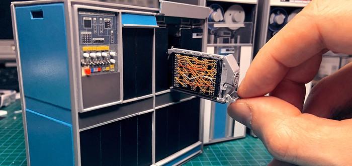 Умелец показал, как создает миниатюрную модель компьютера IBM 1401 — без 3D-принтера