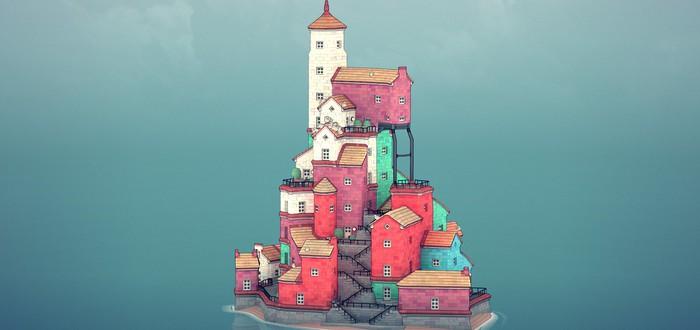 Медитативное строительство милых городов-островов в первом трейлере Townscaper