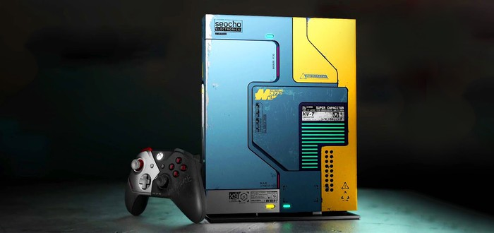 Детальный взгляд на Xbox One X в стиле Cyberpunk 2077