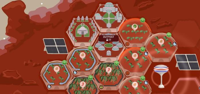 В Steam доступна бесплатная стратегия Red Planet Farming про фермерство на Марсе