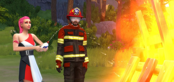 С новым апдейтом симы в  The Sims 4 научились мочиться огнем