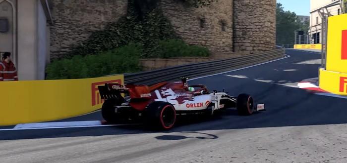 Трасса Баку в новом геймплейном трейлере F1 2020