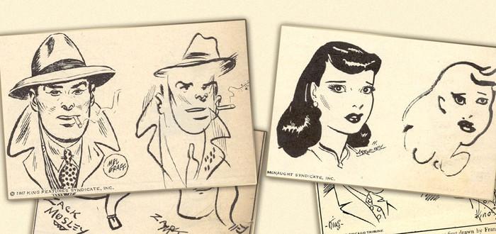 В 1947 году десять авторов комиксов попросили нарисовать своих персонажей на ощупь — вот что вышло