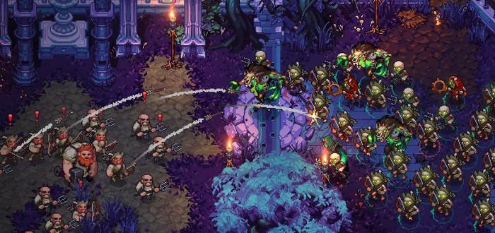 Уничтожение людей и создание армий мертвецов в геймплее пиксельного экшена The Unliving