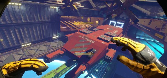 Разбор грузового корабля в геймплейном ролике Hardspace: Shipbreaker