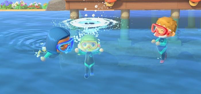 Плавание и морской мир в трейлере первого летнего обновления Animal Crossing