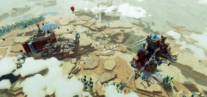 Строительство летающего города в геймплее Airborne Kingdom