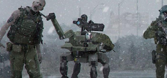 Концепт-арт Modern Warfare с зомби и четвероногими роботами