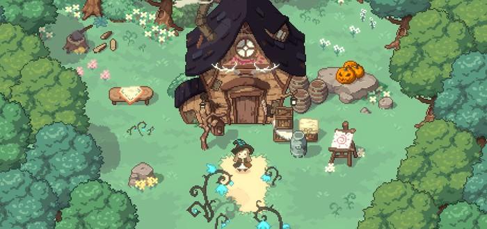 Милые приключения пиксельной ведьмочки в новом трейлере Little Witch in the Woods